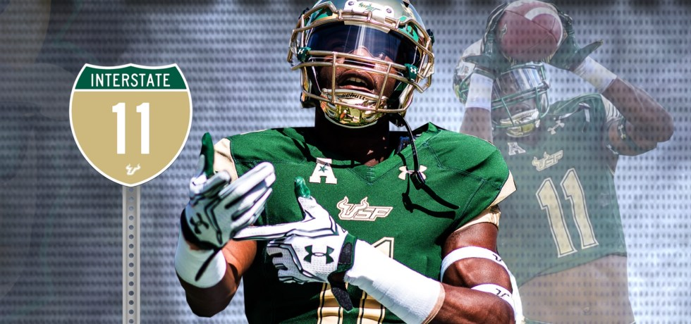 SoFloBulls.com 2017 USF Football Highlights Series - #Interstate11 WR Marquez Valdes-Scantling Article Featured Image (2400x920)