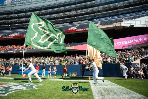 1 - USF vs. Illinois 2018 - USF Flags Pre-Game at Soldier Field Chicago by Dennis Akers | SoFloBulls.com (5866x3916)