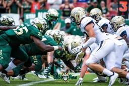 104 - Georgia Tech vs. USF 2018 - USF DL vs. Georgia Tech OL by Dennis Akers   SoFloBulls.com (6016x4016)