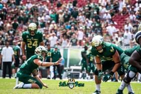 113 - Georgia Tech vs. USF 2018 - USF PK Coby Weiss Kyle Trina by Dennis Akers   SoFloBulls.com (6016x4016)