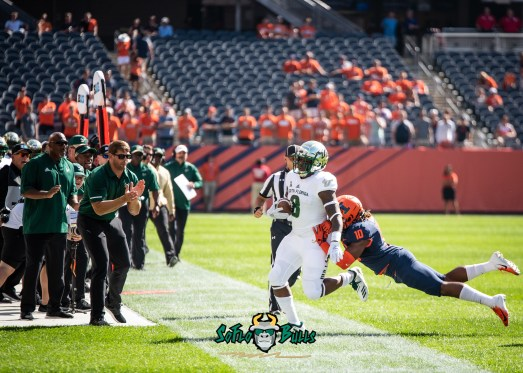 18 - USF vs. Illinois 2018 - USF WR Tyre McCants by Dennis Akers | SoFloBulls.com (4280x3057)
