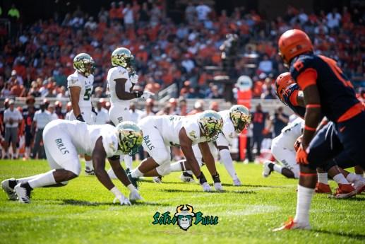 22 - USF vs. Illinois 2018 - USF FL Nico Sawtelle Khalid McGee by Dennis Akers | SoFloBulls.com (6016x4016)
