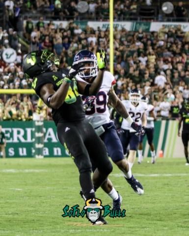 125 - USF vs. UConn 2018 - USF WR Randall St. Felix by Will Turner | SoFloBulls.com (2219x2768) - 0H8A8834