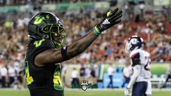 127 - USF vs. UConn 2018 - USF WR Randall St. Felix by Will Turner | SoFloBulls.com (4174x2346) - 0H8A8845