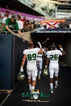 171 - USF vs. Illinois 2018 - USF TE Mitchell Wilcox Keyon Helton by Dennis Akers | SoFloBulls.com (3730x5588)