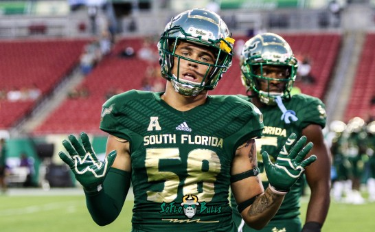 30A - USF vs. ECU 2018 - USF DE Tey Laing by Will Turner | SoFloBulls.com (4752x2948)