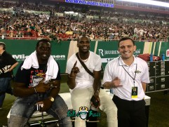 45 – USF vs. UConn 2018 – Former USF Players Quinton Flowers Marquez Valdes-Scantling with SoFloBulls.com Owner Matthew Manuri (4032x3024)