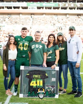 23 - UCF vs. USF 2018 - USF TE Derek Hintze Senior Photo by Dennis Akers | SoFloBulls.com