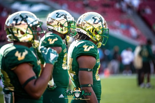 8 - UCF vs. USF 2018 - USF WR Randall St. Felix Stanley Clerveaux by Dennis Akers | SoFloBulls.com