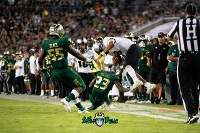 80 - UCF vs. USF 2018 - USF CB Mazzi Wilkins hit on QB McKenzie Milton Injury by Dennis Akers | SoFloBulls.com