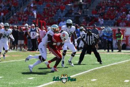 87 - USF vs. Houston 2018 - USF DB Mazzi Wilkins Mekhi LaPointe by Will Turner | SoFloBulls.com (5472x3648) - 0H8A9547