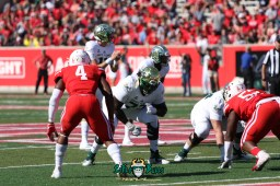 95 - USF vs. Houston 2018 - USF QB Blake Barnett Marcus Norman Jordan Cronkrite by Will Turner | SoFloBulls.com (5472x3648) - 0H8A9582