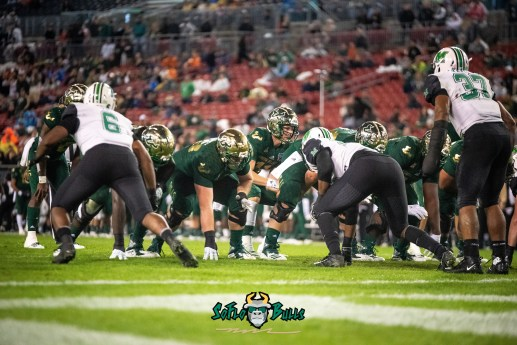 100 - Marshall vs. USF 2018 - USF QB Blake Barnett on the goaline Gasparilla Bowl by Dennis Akers | SoFloBulls.com