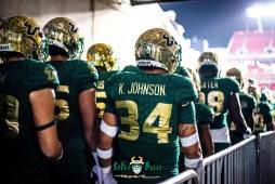 16 - Marshall vs. USF 2018 - USF LB Keirston Johnson by Dennis Akers | SoFloBulls.com