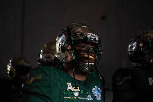 17 - Marshall vs. USF 2018 - USF Players in tunnel by Dennis Akers | SoFloBulls.com