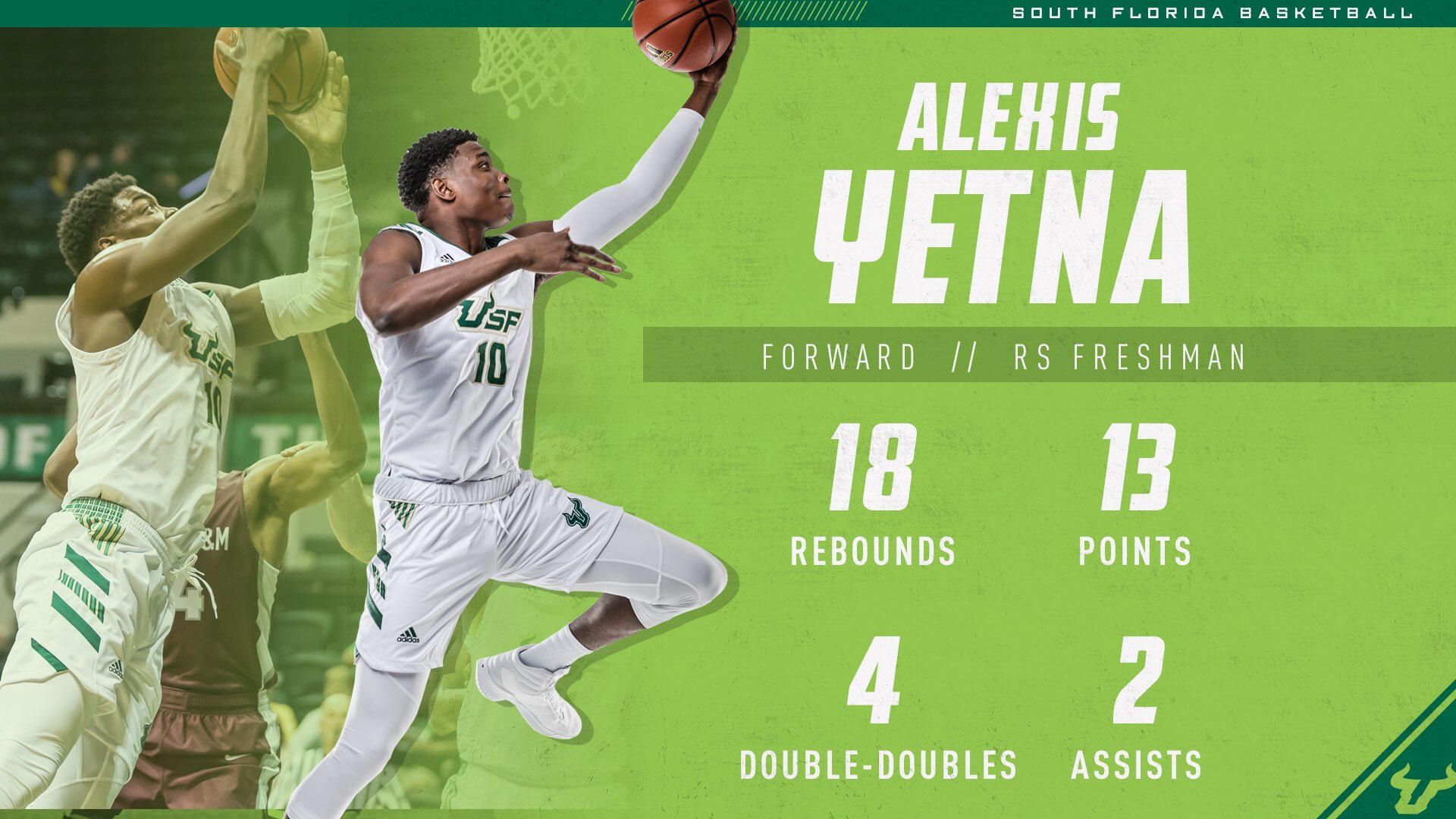 USF forward Alexis Yetna out for 2019-2020 season