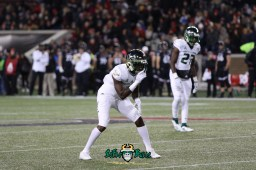 26 – USF vs. Cincinnati 2018 – USF DB Mazzi Wilkins Naytron Culpepper by Will Turner – SoFloBulls.com – 0H8A1016