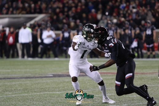 30 – USF vs. Cincinnati 2018 – USF DB Chris Barr by Will Turner – SoFloBulls.com – 0H8A1024