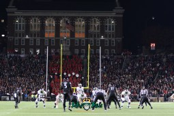 49 – USF vs. Cincinnati 2018 – USF QB Chris Oladokun at Nippert Stadium by Will Turner – SoFloBulls.com – 0H8A1073