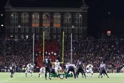 49 – USF vs. Cincinnati 2018 – USF QB Chris Oladokun at Nippert Stadium by Will Turner – SoFloBulls.com – 0H8A1073