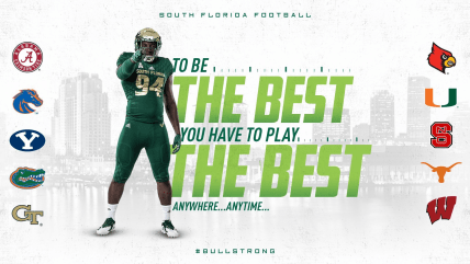 2019 To Be The Best You Must Play The Best, USF Football Future Non-Conference Opponents