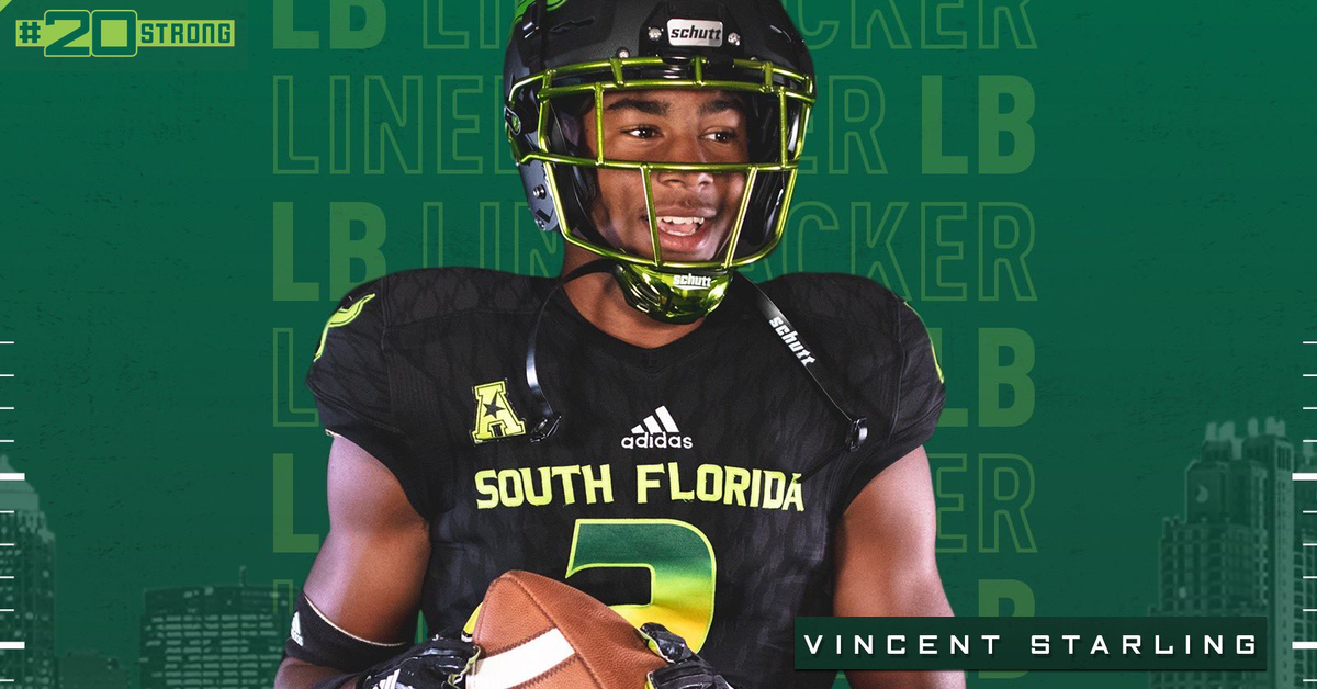 #20Strong 2020 OLB Vincent Starling (Palm Beach Lakes) USF Commitment