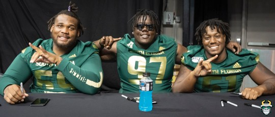 28 - USF DE Stacy Kirby Armon Williams Fan Fest 2019 by David Gold DRG03138