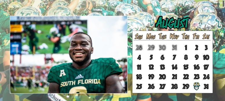 📅 For Sale: 2019-2020 SoFloBulls USF Football Calendar August
