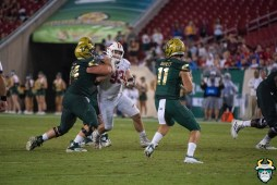 102 – Wisconsin vs USF 2019 – USF QB Blake Barnett Brad Cecil by David Gold – DRG06302