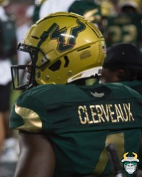 106 - Wisconsin vs USF 2019 - USF WR Stanley Clerveaux by David Gold - DRG06361