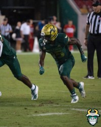 107 - Wisconsin vs USF 2019 - USF WR Jernard Phillips by David Gold - DRG06375