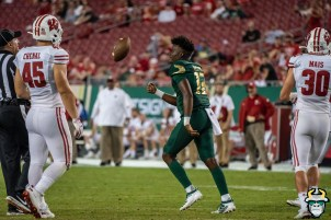 130 - Wisconsin vs USF 2019 - USF QB Jordan McCloud by David Gold - DRG06988