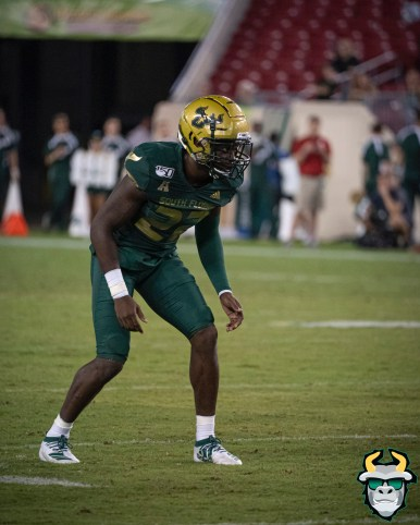 133 - Wisconsin vs USF 2019 - USF DB Mekhi LaPointe by David Gold - DRG07018