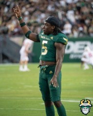 15 – Wisconsin vs USF 2019 – USF WR Randall St. Felix by David Gold – DRG04655