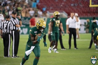 25 – Wisconsin vs USF 2019 – WR Jernard Phillips by David Gold – DRG04898