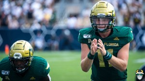27 - USF vs Georgia Tech 2019 - Blake Barnett Johnny Ford by David Gold - DRG00460