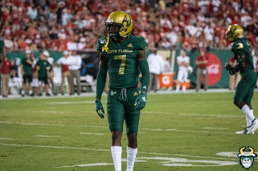 50 – Wisconsin vs USF 2019 – USF DB Mike Hampton by David Gold – DRG05349