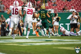 107 - SMU vs USF 2019 - Jacob Mathis TD Bryce Miller by David Gold - DRG01780
