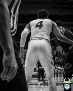 20 - St. Leo vs South Florida Men's Basketball 2019 - Michael Durr B&W by David Gold - DRG02978