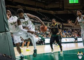23 - St. Leo vs South Florida Men's Basketball 2019 - Justin Brown Laquincy Rideau by David Gold - DRG03045