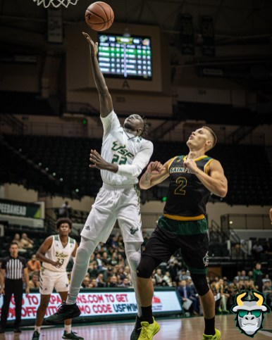 43 - St. Leo vs South Florida Men's Basketball 2019 - Madut Akec by David Gold - DRG03447