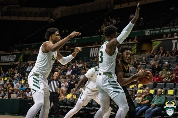 6 - St. Leo vs South Florida Men's Basketball 2019 - Michael Durr Justin Brown by David Gold - DRG02659