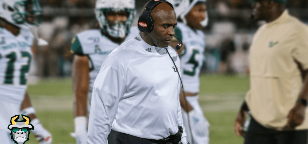 USF Head Coach Charlie Strong in 2019 Loss to UCF | SoFloBulls.com
