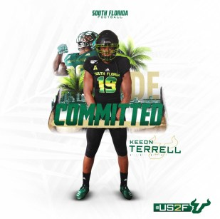 USF Class of 2021 Commit DE Keeon Terrell