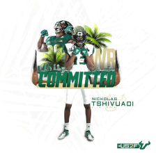 USF WR Nickolas Tshivuadi Class of 2021 Commitment Photo