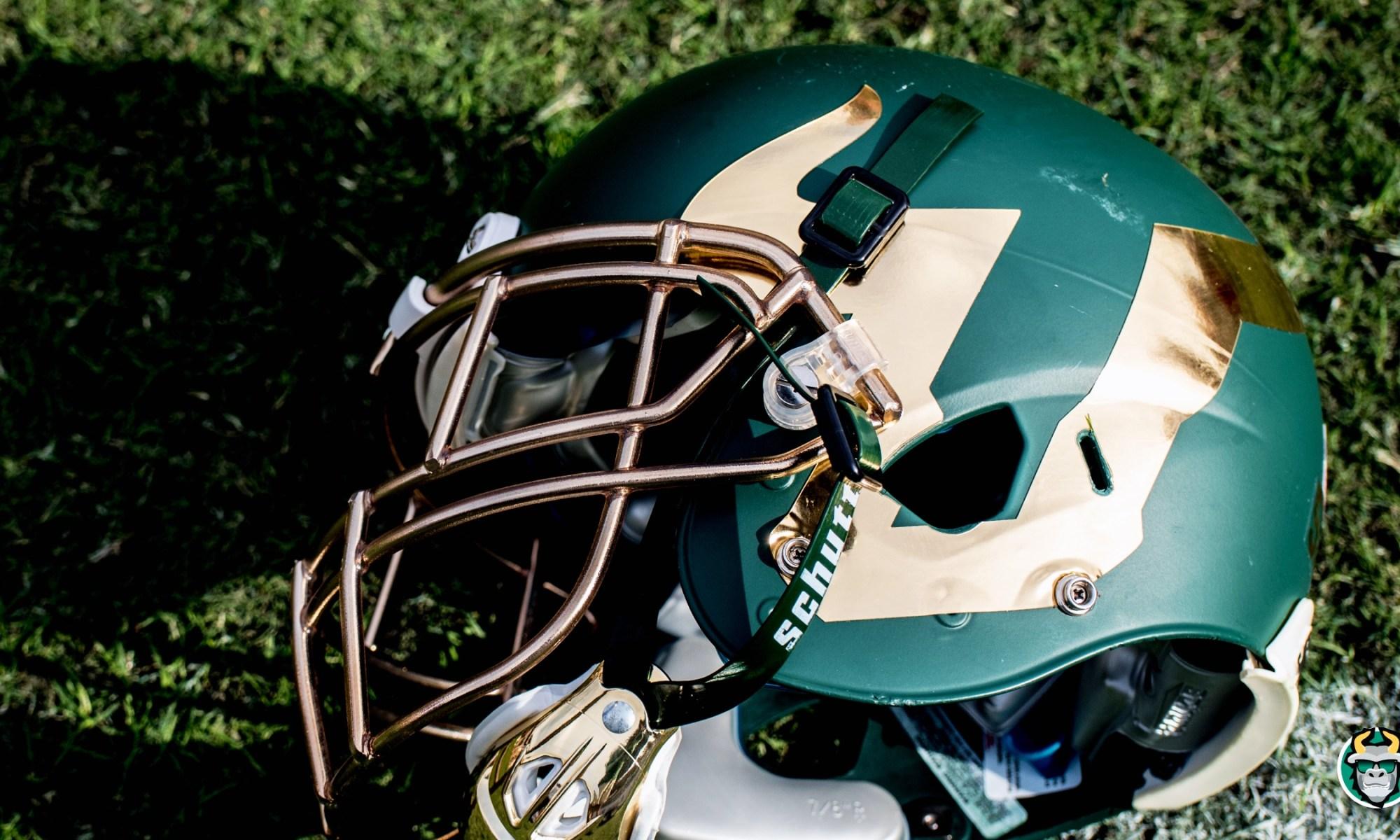 Matte Green USF Football Helmet Photo