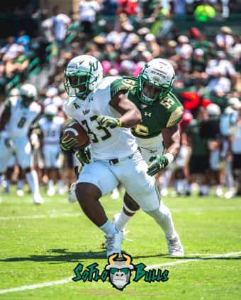 90 - USF Spring Game 2018 - USF RB Dave Small by Dennis Akers - SoFloBulls.com (2918x3647)