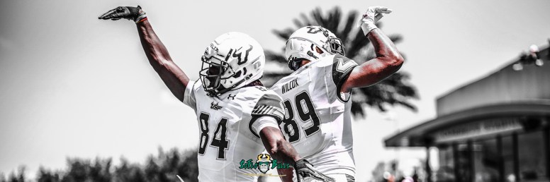 SoFloBulls.com 2018 USF Spring Game Highlights Twitter Cover Image by Dennis Akers Carmine Logo (3002x1000)