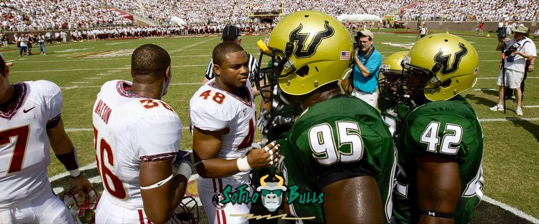 USF vs FSU 2009 DE George Selvie at center field Doak Campbell Stadium Facebook Cover Image - SoFloBulls.com (3200x1332)