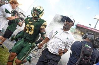 USF LB Danny Thomas and Willie Taggart